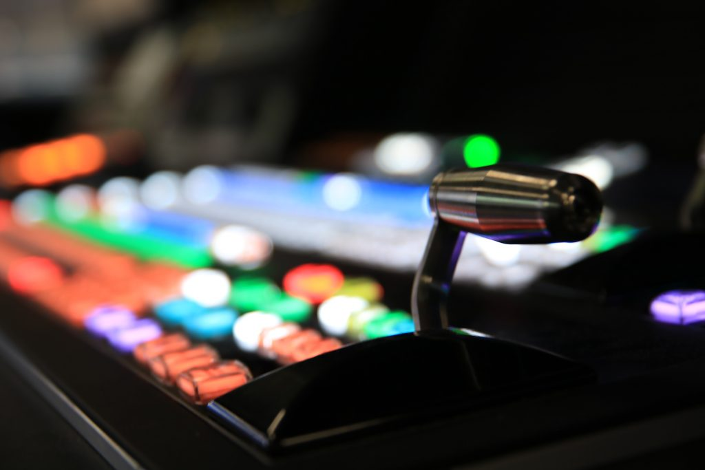 A picture of a broadcast switcher